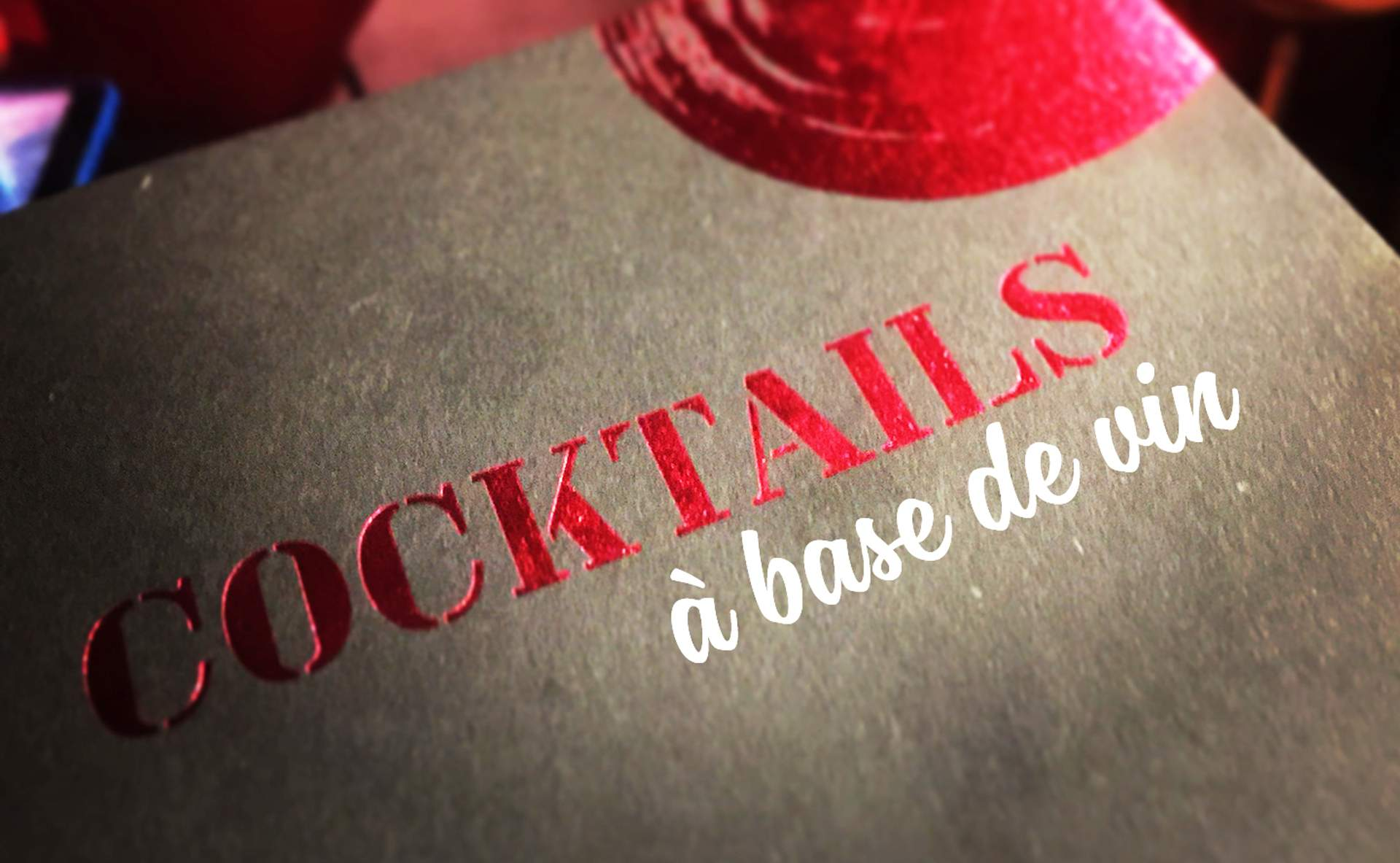Les cocktails à base de vin